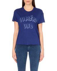 Zoe Karssen Numero Uno Jersey T-shirt - Lyst