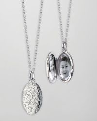 Monica Rich Kosann - Oval Floralcarved Locket Necklace - Lyst