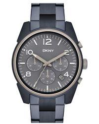DKNY - 'crosby' Chronograph Bracelet Watch - Lyst
