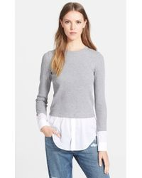 Theory Women'S 'Mikaela' Layered Thermal Top - Lyst