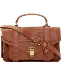 Proenza Schouler Saddle Brown Lux Leather Tiny Ps1 brown - Lyst