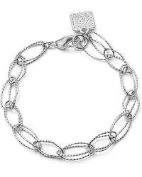 Anne Klein - Silvertone Link Bracelet - Lyst