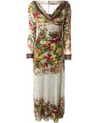 Jean Paul Gaultier Floral-Print Jersey Maxi Dress - Lyst
