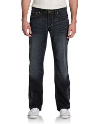 Affliction Blake Rework Whiskered Straightleg Jeans - Lyst
