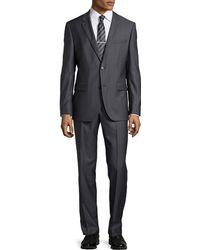 Hugo Boss Grand Central Herringbone Suit - Lyst