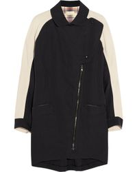 O'2nd - Crepe-paneled Linen And Cotton-blend Coat - Lyst