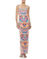 Mara Hoffman Fitted Printed Tank Maxi Dress - Lyst