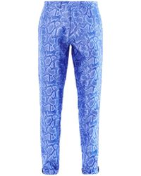Richard Nicoll - Snake-Effect Jacquard Trousers - Lyst