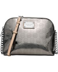 Michael Kors Michael Cindy Large Dome Crossbody silver - Lyst