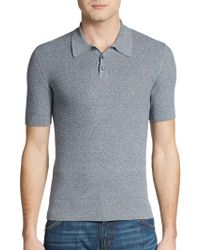 Dolce & Gabbana Textured Cotton Polo Shirt - Lyst
