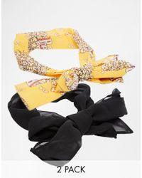 Asos 2 Pack Popcorn Headscarf - Lyst
