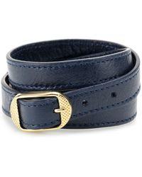 Balenciaga Giant Leather Bracelet - Lyst