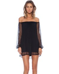 For Love & Lemons Black Precioso Dress - Lyst