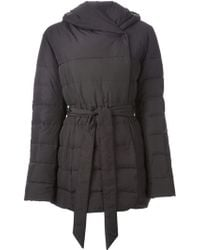 Armani Hooded Padded Jacket - Lyst