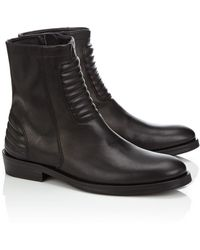 Surface To Air Black Leather Allan Biker Boots - Lyst