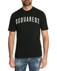 DSquared² Black Logo Classic Fit Tshirt - Lyst
