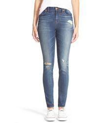 Madewell | 'high Riser' Skinny Skinny Jeans | Lyst