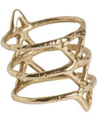 Rebecca Taylor - Spine Brass Ring - Lyst