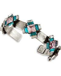 Dannijo Alexia Crystal-Station Cuff Bracelet - Lyst
