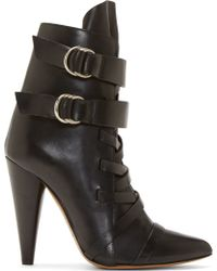 Isabel Marant Black Leather Royston Boot - Lyst