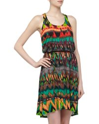 Ella Moss Sleeveless Ikatprint Slubknit Dress - Lyst