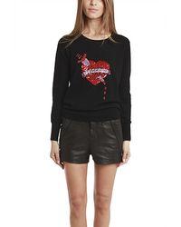 Markus Lupfer Bleeding Love Sequin Sweater - Lyst