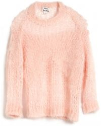 Acne Studios Moxa Mohair Pullover Sweater - Lyst