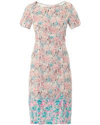 Nina Ricci Floral Print Lace Dress - Lyst