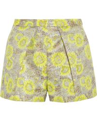 MSGM Bermuda Metallic Jacquard Shorts - Lyst