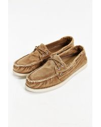 Sperry Top-sider Authentic Original 2-Eye Washed Canvas Boat Shoe - Lyst