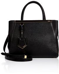 Fendi Small 2jours Leather Satchel - Lyst