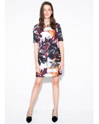 Mango Printed Shift Dress - Lyst