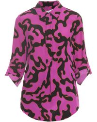 Diane Von Furstenberg Top with Collar - Lyst