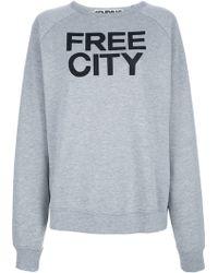 FREE CITY - Cotton Sweatshirt - Lyst