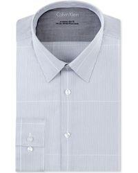 Calvin Klein X Extra Slim Indigo Check Dress Shirt - Lyst