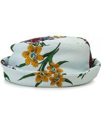 Junya Watanabe | Flowery Short Brimmed Hat | Lyst