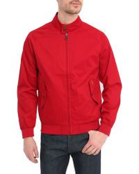Ben Sherman Red Cotton Harrington Jacket - Lyst