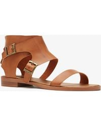 Forever 21 Buckled Flat Sandals - Lyst