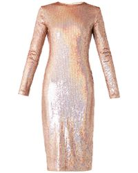 Givenchy Longsleeved Sequinned Dress - Lyst