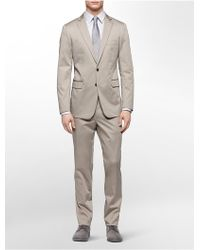 Calvin Klein White Label X Fit Ultra Slim Fit Khaki Suit - Lyst