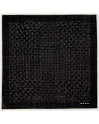 Paul Smith Black Polka Dot Pocket Square - Lyst