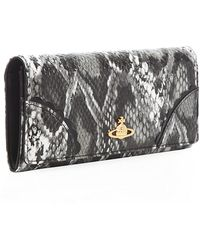 Vivienne Westwood Frilly Snake Long Flap Wallet - Lyst