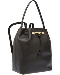 The Row Mini Black Braided Calfskin Backpack - Lyst