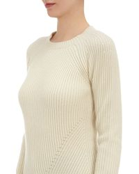 Derek Lam Ribknit Cropped Pullover Sweater - Lyst