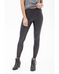 Forever 21 Faux Leather Leggings - Lyst