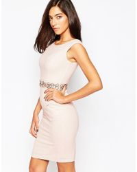 Little Black Dress - Cameron Dress With Embellished Waist - Lyst