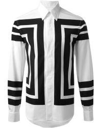 Alexander McQueen Geometric Print Shirt - Lyst
