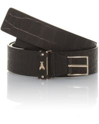 Patrizia Pepe Low Waist Belt in Crocodile Print Leather - Lyst