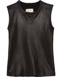 Current/Elliott The Sleeveless Stadium Cotton Top - Lyst