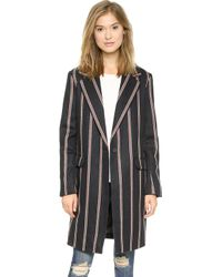 Elizabeth And James Iris Boyfriend Stripe Jacket  Navy - Lyst